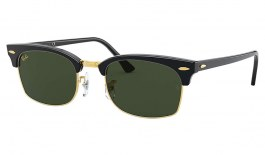 Ray-Ban RB3916 Clubmaster Square Sunglasses - Black / Green