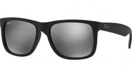 Ray-Ban RB4165 Justin Sunglasses - Black / Grey Mirror