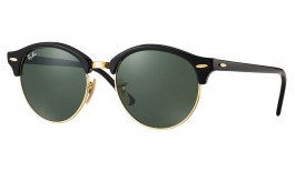 Ray-Ban RB4246 Clubround Sunglasses - Black / Green Classic G-15
