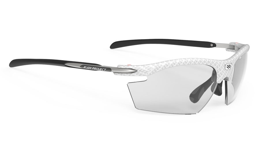 Rudy Project Rydon Prescription Sunglasses - Clip-On Insert - White Carbonium / ImpactX 2 Photochromic Black
