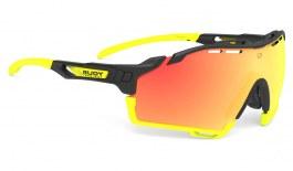 Rudy Project Cutline Prescription Sunglasses - Clip-On Insert - Matte Black / Multilaser Orange