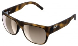 POC Want Sunglasses - Tortoise Brown / Clarity Trail Brown with Silver Mirror