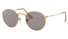 Ray-Ban RB3447 Round Metal Sunglasses - Gold / Evolve Grey Photochromic