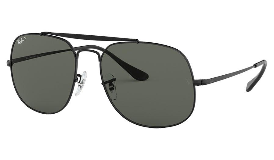 Ray-Ban RB3561 General Sunglasses - Black / Green Polarised