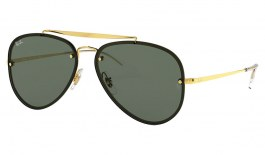Ray-Ban RB3584N Blaze Aviator Sunglasses - Gold / Green