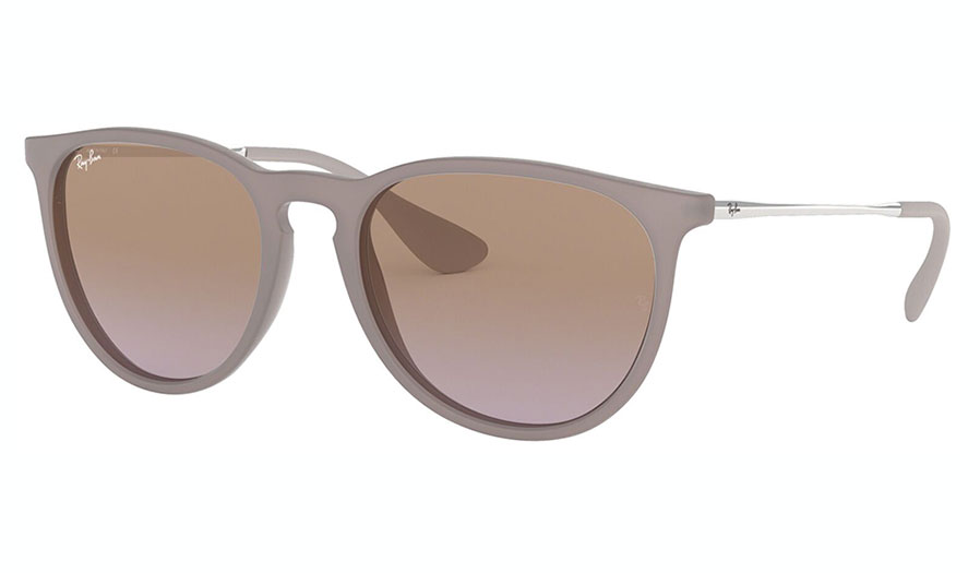 Ray-Ban RB4171 Erika Sunglasses - Rubber Sand / Brown Gradient