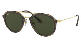 Ray-Ban RB4253 Sunglasses - Tortoise & Gold / Green