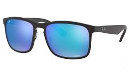 Ray-Ban RB4264 Sunglasses - Black / Blue Mirror Chromance Polarised