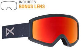 Anon Helix 2.0 Ski Goggles - Rush / Red Solex + Amber