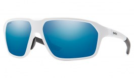Smith Pathway Sunglasses - Matte White / ChromaPop Blue Mirror Polarised