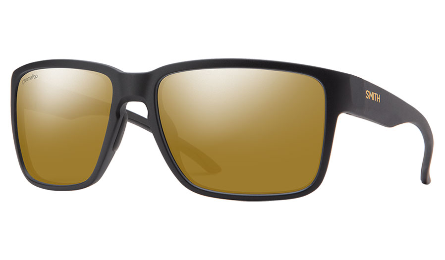 Smith Emerge Sunglasses - Matte Black / ChromaPop Bronze Mirror Polarised