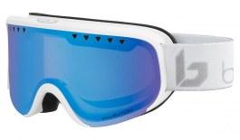 Bolle Scarlett Ski Goggles - Matte White & Silver Corp / Phantom+ Polarised Photochromic