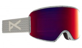 Anon WM3 MFI Ski Goggles - Gray / Perceive Sunny Red + Perceive Cloudy Burst