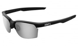 100% Sportcoupe Sunglasses - Matte Black / HiPER Silver Mirror + Clear