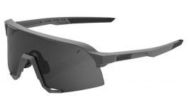 100% S3 Sunglasses - Soft Tact Grey / Smoke + Clear