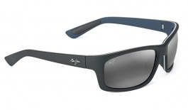 Maui Jim Kanaio Coast Sunglasses - Matte Soft Black & White / Neutral Grey Polarised