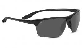 Serengeti Linosa Sunglasses - Shiny Black / CPG Polarised Photochromic