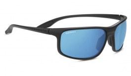 Serengeti Levanzo Sunglasses - Matte Black / 555nm Blue Polarised Photochromic