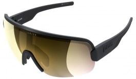 POC Aim Sunglasses - Uranium Black / Clarity Road Violet with Gold Mirror