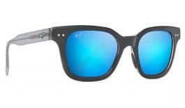 Maui Jim Shore Break Sunglasses - Matte Black with Grey / Blue Hawaii Polarised