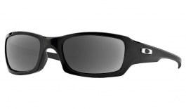Oakley Fives Squared Prescription Sunglasses - Polished Black (Chrome Icon)