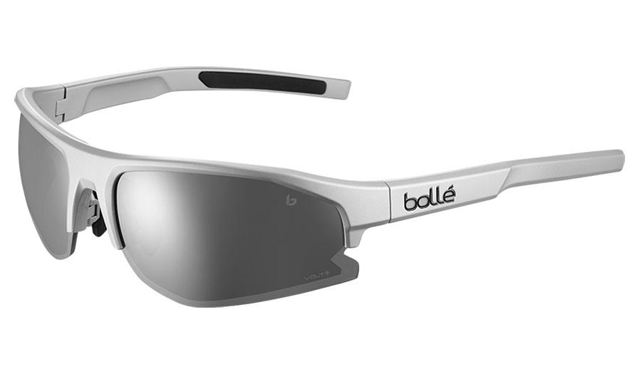 Bolle Bolt 2.0 Sunglasses - Matte Silver / Volt+ Cold White Polarised
