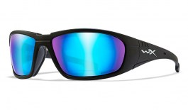 Wiley X Boss Sunglasses - Matte Black / Captivate Blue Mirror Polarised