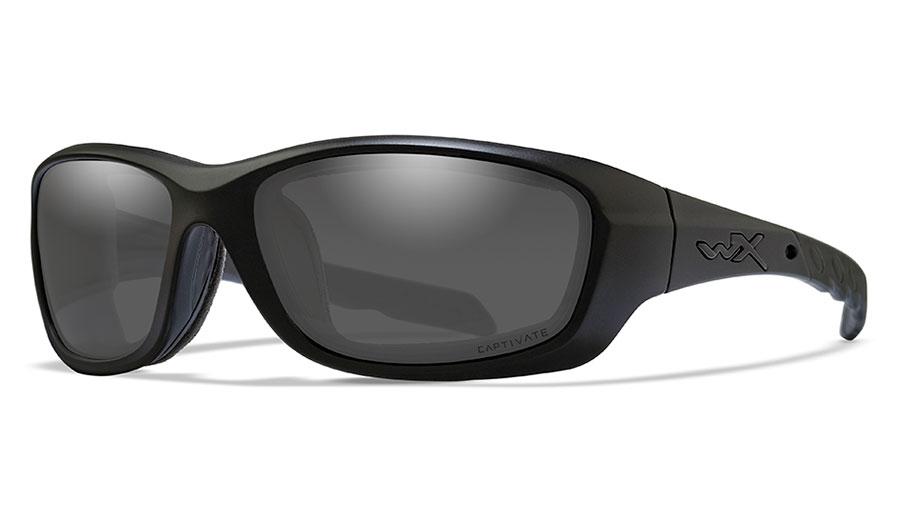 Wiley X Gravity Sunglasses - Matte Black / Captivate Smoke Grey Polarised