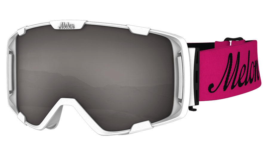 48f6da472d86 Melon Parker Ski Goggles - Matte White   Pink with Black Logo Strap -  RxSport