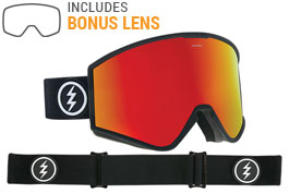 Electric Kleveland Ski Goggles - Matte Black / Brose Red Chrome + Pink