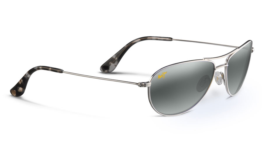 5b9bde881cd Maui Jim Baby Beach Prescription Sunglasses - Silver - RxSport
