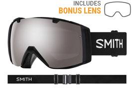 Smith Optics I/O Ski Goggles - Black / ChromaPop Sun Platinum Mirror + ChromaPop Storm Rose Flash