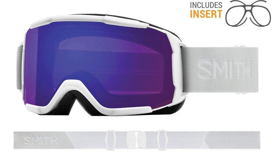 Smith Optics Showcase Prescription Ski Goggles - White Vapor / ChromaPop Everyday Violet Mirror
