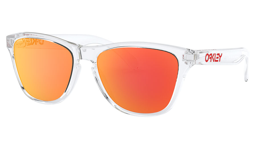 Oakley Frogskins XS Sunglasses - Polished Clear / Prizm Ruby