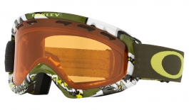 Oakley O Frame 2.0 XS Ski Goggles - Shady Trees Army Green / Persimmon