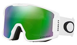 Oakley Line Miner Prescription Ski Goggles - Matte White / Prizm Jade Iridium