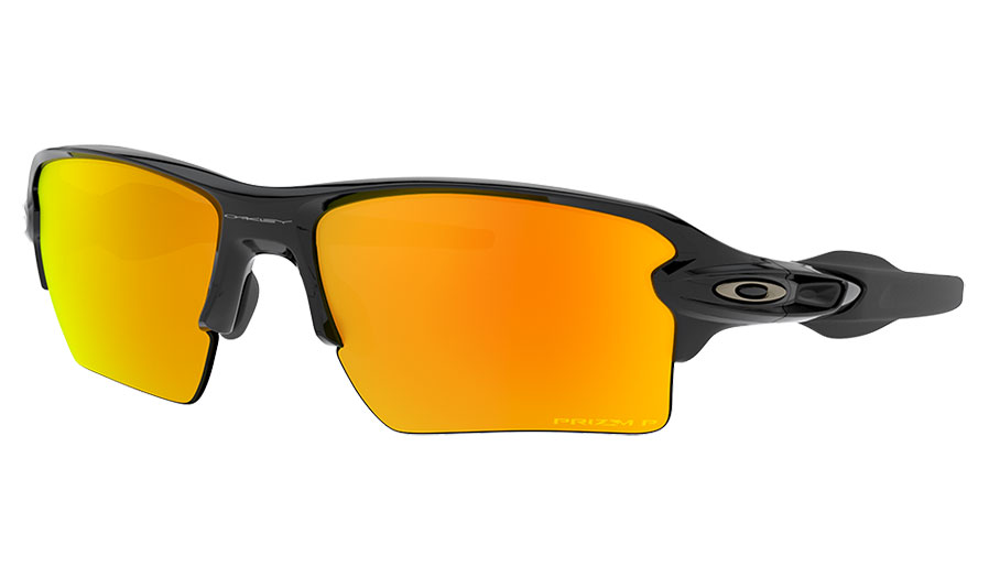 Oakley Flak 2.0 XL Sunglasses - Polished Black / Prizm Ruby Polarised