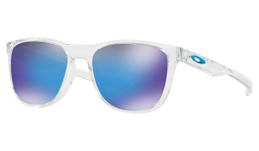 201f5b49a836 Oakley Trillbe X Sunglasses - Polished Clear / Prizm Sapphire - RxSport