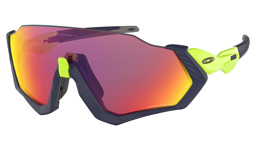 Oakley Flight Jacket Sunglasses - Matte Navy & Retina Burn / Prizm Road