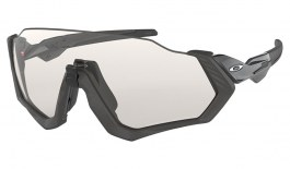 Oakley Flight Jacket Sunglasses - Steel & Black Ink / Clear Black Iridium Photochromic