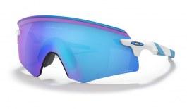 Oakley Encoder Sunglasses - Polished White / Prizm Sapphire