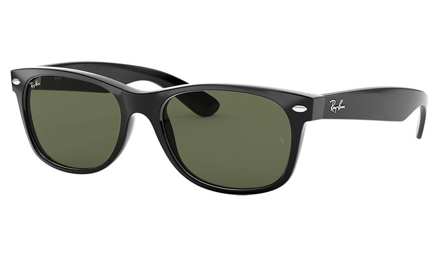 Ray-Ban RB2132 New Wayfarer Sunglasses - Black / Green