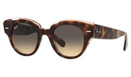 Ray-Ban RB2192 Roundabout Sunglasses - Havana on Transparent Pink / Blue Brown Gradient