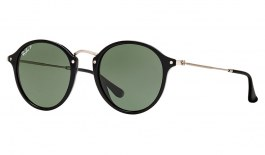 Ray-Ban RB2447 Sunglasses - Black & Silver / Green Polarised