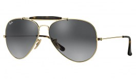 Ray-Ban RB3029 Outdoorsman II Sunglasses - Gold / Grey Gradient