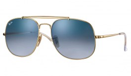 Ray-Ban RB3561 General Sunglasses - Gold / Light Blue Gradient
