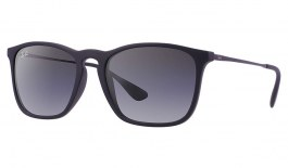 Ray-Ban RB4187 Chris Sunglasses - Black / Grey Gradient