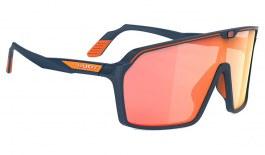 Rudy Project Spinshield Sunglasses - Matte Navy Blue / Multilaser Orange