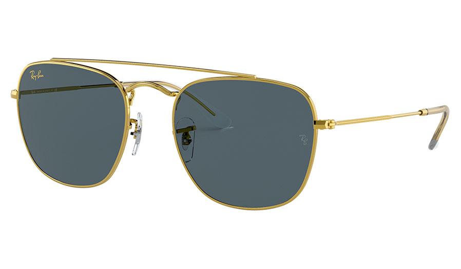 Ray-Ban RB3557 Sunglasses - Gold / Dark Blue