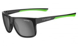 Tifosi Swick Sunglasses - Satin Black & Neon Green / Smoke Polarised